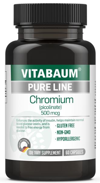 Chromium (picolinate) 500mcg (60 capsules) | PURE LINE